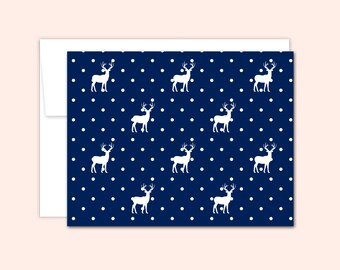 Deer Notecard Set (10 cards), Hostess Gift, Reindeer Cards, Thank You Cards, Cute Note Card, Greeting Card, Blank Inside