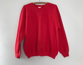 Vintage Distressed Red Sweatshirt Raglan