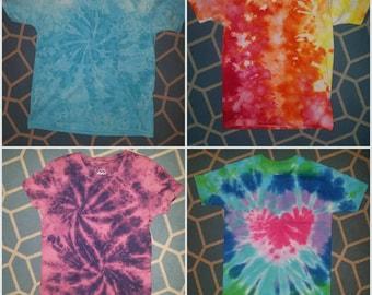 Size medium youth tie dye t-shirts