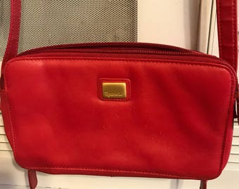 Vintage Red Crossbody Purse .