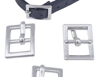 Loop leather belt buckle for leather 10 mm maximum