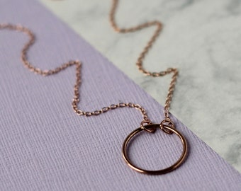 Mini Infinity Necklace - Rose Gold, Gold, Silver | modern | anniversary gift  | circle necklace | mini pendant | birthday gift | uk gift