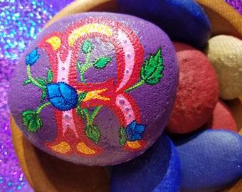 painted stones, personalized, initials, romantic, victorian, boho, gratitude, unique gifts,  Valentines