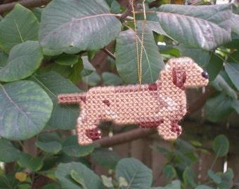 Dachshund Smooth dog ornament home decor, for everyday display or Christmas - Discontinued, Price Reduced 40% off