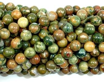 Rhyolite Beads, 6mm(6.5mm) Round Beads, 15.5 Inch, Full strand, Approx 62 Beads, Hole 1 mm, A quality (387054001)
