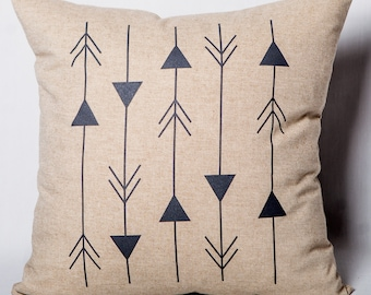 "Geometric pillow ""Directions""."