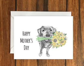 Happy Mother's Day Dog Blank greeting card A6