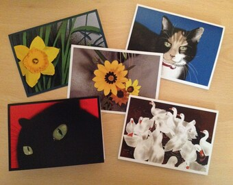 Blank Greeting Cards, 5 Pack, Any Design - YOU Choose
