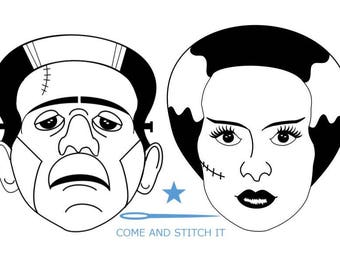 Frankenstein and Bride of Frankenstein Masks