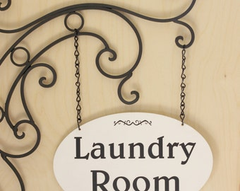 Powder Room Sign, Restroom Sign, Laundry Room Sign,Gift for Her,Laundry Room Wall Hanging,Kitchen Sign,Kitchen Signs, Home Decor Sign