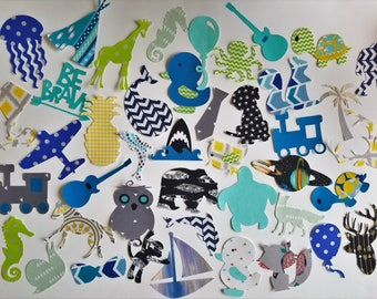 Assorted baby boy iron on appliques for DIY baby shower activity/game. Customize your order easily by messaging me!!