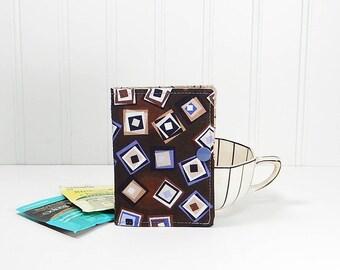 Travel tea bag case, tea wallet, teabag caddie, snap closure, gift for tea drinker, mothers day gift