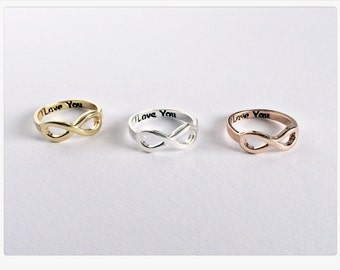 Infinity Ring GOLD, Infinity, Infinity, Eternity ring in gold