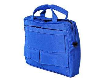 Messenger Bag, Briefcase,Padded laptop Bag, travel Bag- D.T in Light Blue