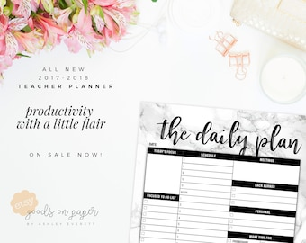 2017 - 2018 Teacher Planner PRINTABLE