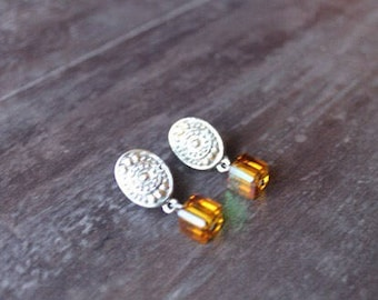 Amber Cider earrings with recycled Brighton
