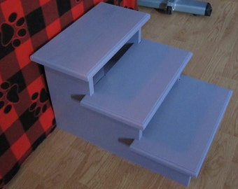 """Pet Stairs to give your dog or cat the extra step they need, wherever they need it, 16"""" high (Unassembled)."""