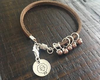 Stitch Marker Bracelet - Chocolate