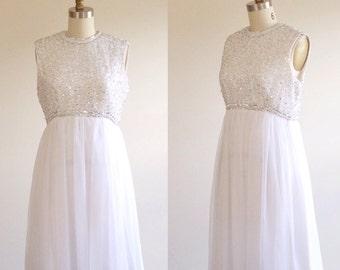 Short wedding dress- White wedding dress- Beaded wedding dress- Empire wedding dress- White prom dress- Short formal dress- Medium