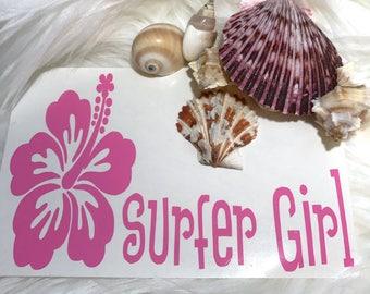 Surfer Girl Vinyl Decal