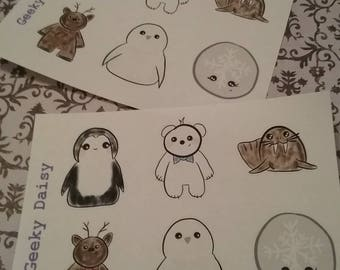 Kawaii Wintry Stickers