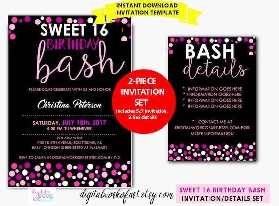 16 birthday invitations templates joselinohouse 16 birthday invitations templates filmwisefo