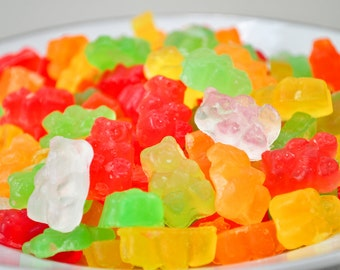 Gummi Bear Soaps - gummy bears - gift soap - candy soap -mixed fruit scented -food soap - classic candy - red, green, yellow, orange