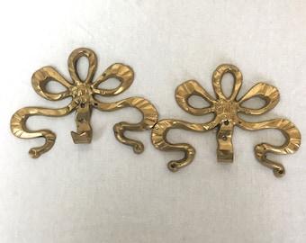 Brass Ribbon Coat Hanger, Brass Ribbon Key Ring Hanger