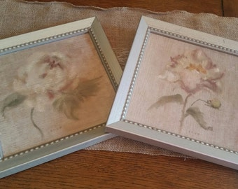 Pair of Floral Pictures..........9 1/2 x 9 1/2