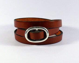 Leather Bracelet woman, handmade leather bracelet, handmade leather bracelet leather bracelet and silver bracelet, adjustable leather strap