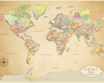 Large world map etsy sciox Images