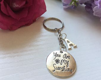 You Are My Sunshine Keyring, Gift for Loved one, Valentine's Day Gift, Gift for Friend, Birthday Gift, Mothers Day