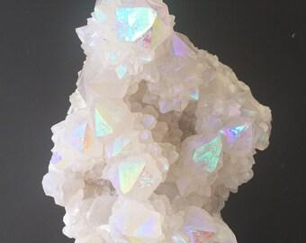 Pastel Aura Spirit Quartz Cluster #4