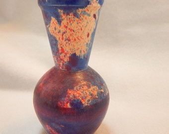 Graduation gift, gift for her, multi-colored maple wood bud vase or weed pot. Dyed with wood dyes