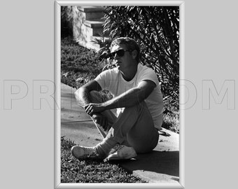 Steve McQueen American Actor Wanted Dead Or Alive Canvas Print Poster