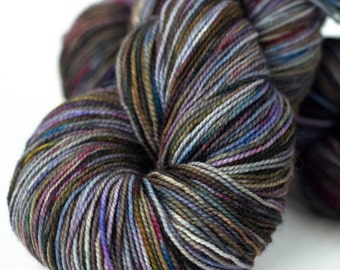 Superwash Merino Sock Yarn - hand dyed - 100g