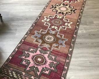 "Low Pile Oushak Runner Rug.2""11x13""6ft. Turkish Runner Rug,Hallway Rug Runner,Low Pile Vintage Runner,interior Runner Rug,Salon Runner,Rugs"