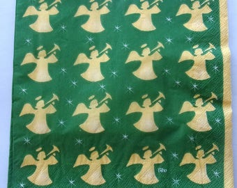 paper Angels colors yellow and green No. 20 napkins   3517