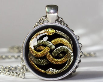 never ending story snake auryn necklace