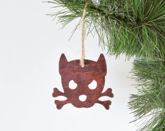 Dog Ornament / Rustic Outlaw Doggy Ornament -Spike- by WATTO Distinctive Metal Wear / Christmas Ornament /Gift for Dog Lover Christmas Gift