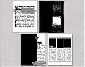 Lots To Say Set 2 - 8.5x11 Digital Scrapbooking Templates