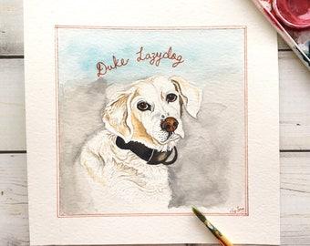 Custom Dog Portrait, Custom Pet Portrait, Custom Dog Painting, Pet Watercolor, Memorial Art, Pet Art, Pet Painting, Custom Cat Portrait