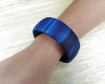 African batik fabric bracelet - brawal23