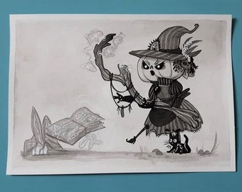 A5 Original Sketch - Off to the dungeon 2