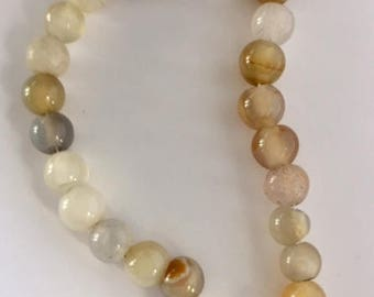 Agate Beads - 27 beads - approximately 8mm - 9mm