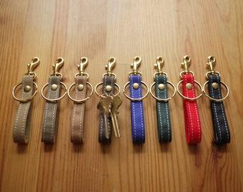 Waxed Canvas Vegan Key Chain Key Ring