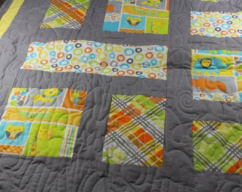 Animal Baby Quilt Blanket