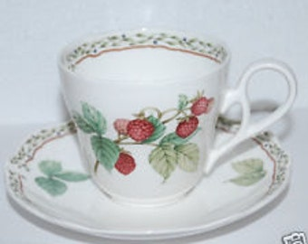 Royal Orchard by Noritake 9416 Fruit Pattern, Fine China, Primachina, Japan, Teacup & Saucer, Coffee Cup, Saucer, Discontinued Pattern