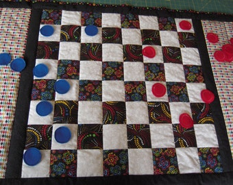 Checkerboard quilt with checkers