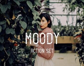 Moody Photoshop Actions- 10 Moody Editing Photoshop CC Actions Photoshop Moody Actions Photo Editing Action Bundle Moody Filters Bundle